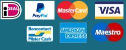 Bij Antisliprubber tape betaal je veilig met onder andere Ideal Paypal en Creditcard.
