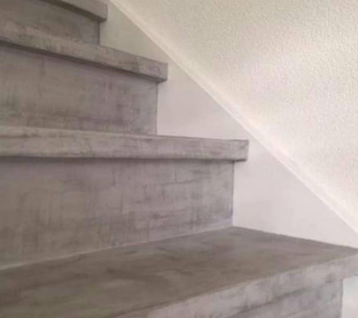 Uitgelezene 3 ideeën om je trap een Betonlook te geven met mortel of verf PP-08