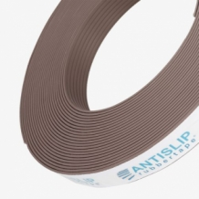 Bruine antislip rubber strip voor optimale trapveiligheid
