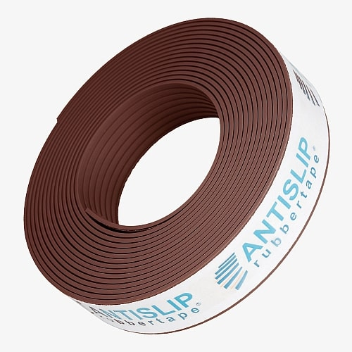 Antislip trap rubber strip 5m parel koper